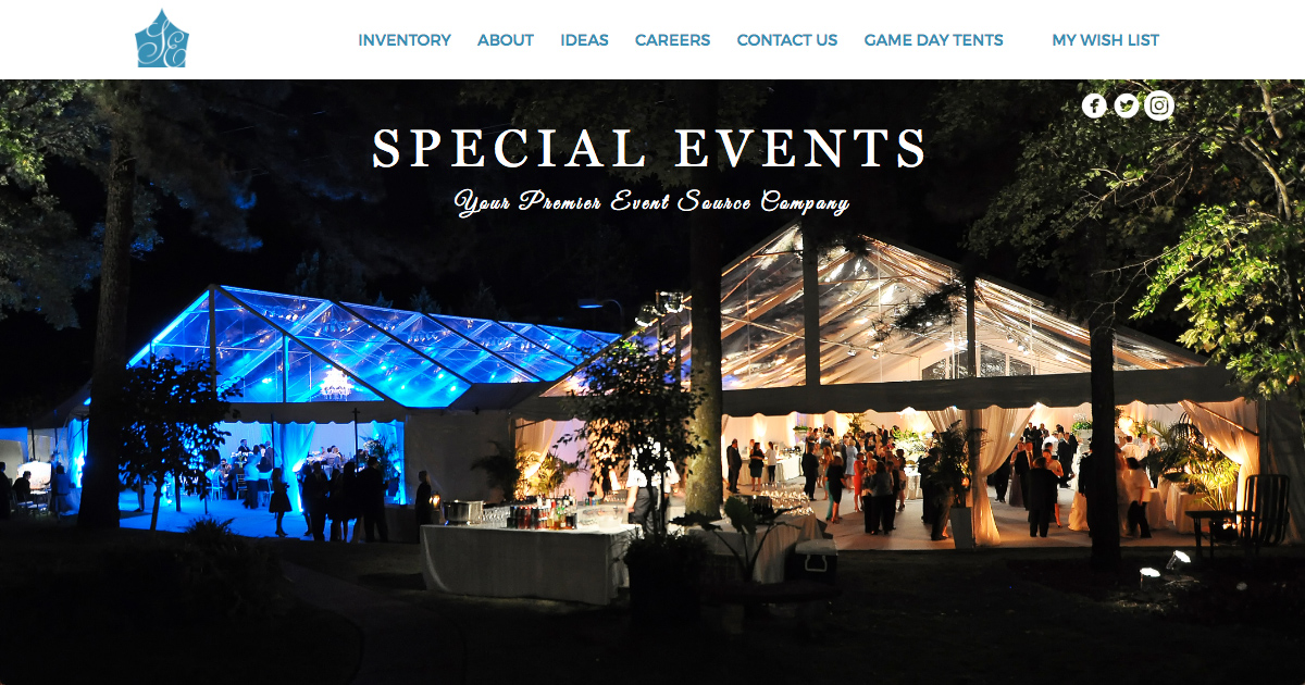 & Home | Special Events : Event Rentals in Birmingham and Tuscaloosa
